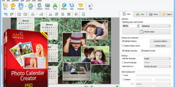 AMS Software Photo Calendar Creator Pro 15.0