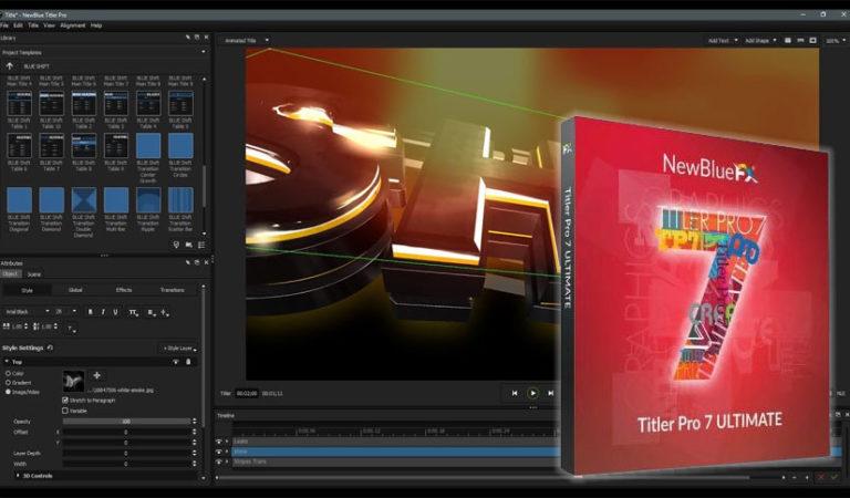 Télécharger NewBlue Titler Pro 7 Ultimate 7.5.210310  (version complete)